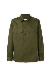 Camisa de manga larga verde oliva de AMI Alexandre Mattiussi