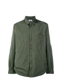 Camisa de manga larga verde oliva de Aspesi