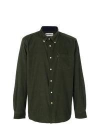 Camisa de manga larga verde oliva de Barbour