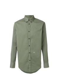 Camisa de manga larga verde oliva de DSQUARED2