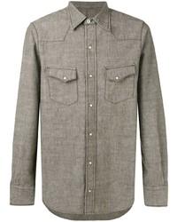 Camisa de manga larga verde oliva de Fortela