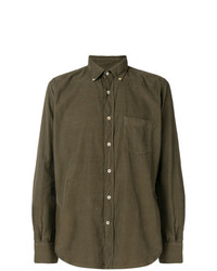 Camisa de manga larga verde oliva de Glanshirt
