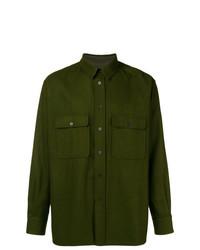 Camisa de manga larga verde oliva de Holland & Holland