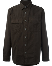 Camisa de Manga Larga Verde Oliva de Hudson