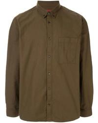 Camisa de manga larga verde oliva de Hugo Hugo Boss
