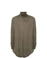 Camisa de manga larga verde oliva de Julius