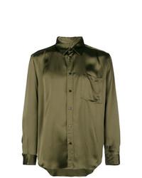 Camisa de manga larga verde oliva de MSGM
