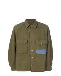 Camisa de Manga Larga Verde Oliva de Myar