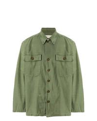 Camisa de Manga Larga Verde Oliva de R13