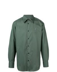 Camisa de manga larga verde oliva de Vivienne Westwood