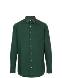 Camisa de manga larga verde oscuro de Kolor