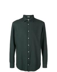 Camisa de manga larga verde oscuro de Massimo Alba