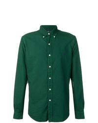 Camisa de manga larga verde oscuro de Polo Ralph Lauren