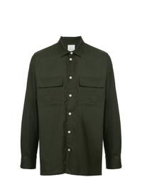 Camisa de manga larga verde oscuro de Wood Wood