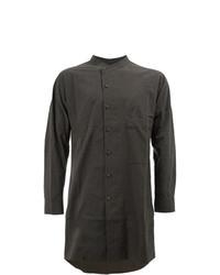 Camisa de manga larga verde oscuro de Ziggy Chen