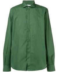 Camisa de manga larga verde de Boglioli