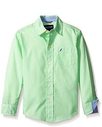 Camisa de manga larga verde de Nautica