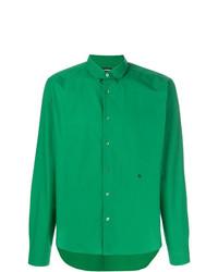 Camisa de manga larga verde de Raf Simons