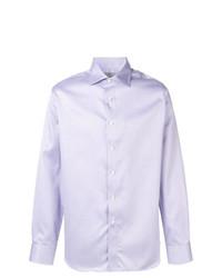 Camisa de manga larga violeta claro de Canali