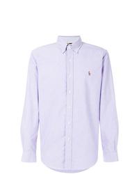 Camisa de manga larga violeta claro de Ralph Lauren