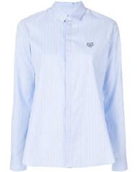 Camisa de rayas verticales celeste de Kenzo