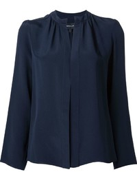 Camisa de seda azul marino de Derek Lam