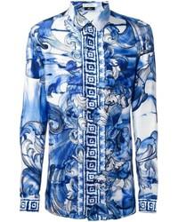 Comprar una camisa de seda azul  elegir camisas de seda azules más ... 33ed95fef6e