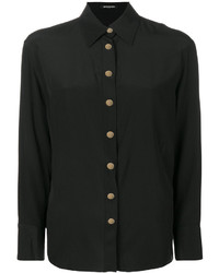 Camisa de seda negra de Balmain