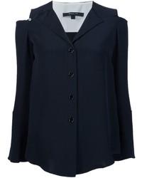 Camisa de seda negra de Derek Lam