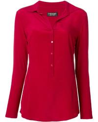 Camisa de seda roja de Twin-Set