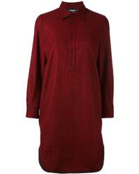 Camisa de tartán burdeos de Dsquared2