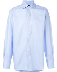 Camisa de tartán celeste de Tom Ford