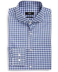 Camisa de vestir a cuadros azul