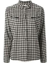 Camisa de vestir a cuadros en negro y blanco de Maison Scotch