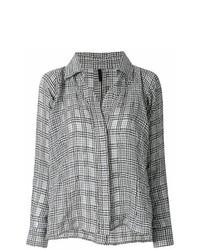 Camisa de vestir a cuadros en negro y blanco de Unravel Project