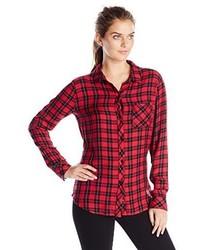 Camisa de vestir a cuadros en rojo y negro de Rails
