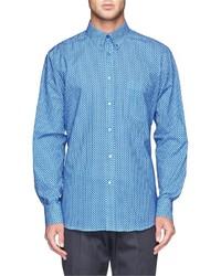 Camisa de vestir a lunares azul