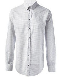 Camisa de vestir a lunares blanca