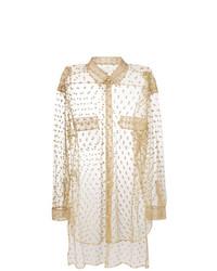 Camisa de vestir a lunares en beige de Maison Margiela
