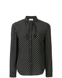 Camisa de vestir a lunares en negro y blanco de RED Valentino