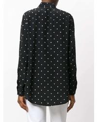 Camisa de Vestir a Lunares en Negro y Blanco de T by Alexander Wang