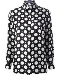 Camisa de Vestir a Lunares en Negro y Blanco de Ungaro