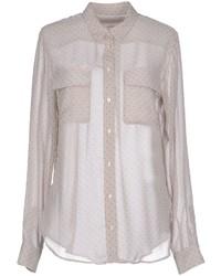 Camisa de vestir a lunares gris