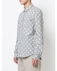 Camisa de vestir a lunares gris de Odin