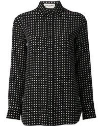 Camisa de vestir a lunares negra de Saint Laurent
