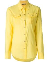Camisa de vestir amarilla de Balmain