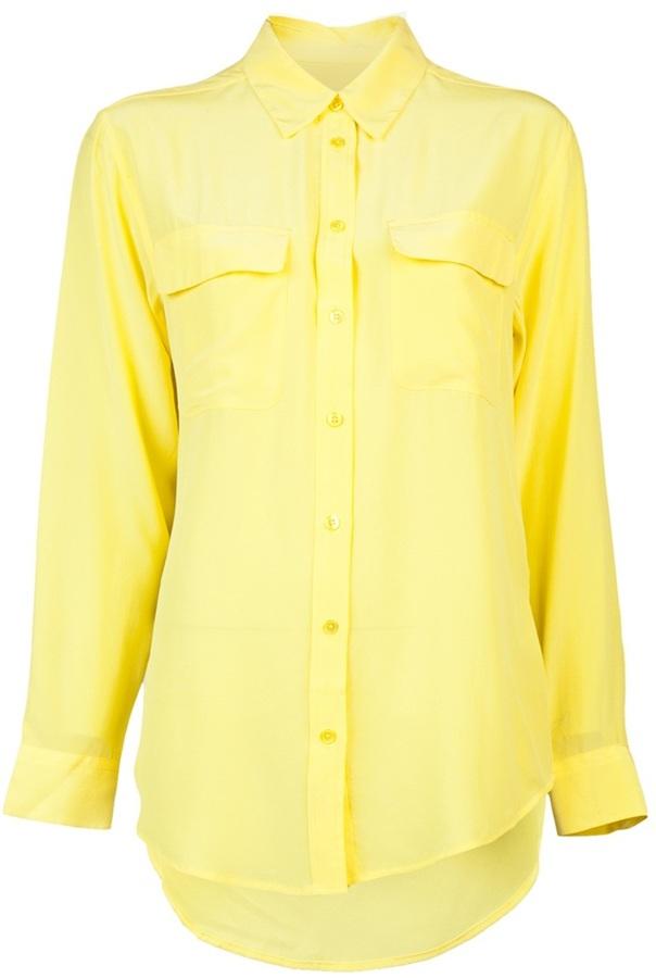 Camisa de vestir amarilla de Equipment