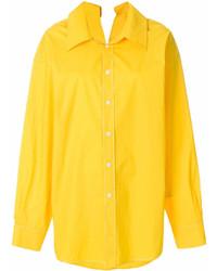 Camisa de vestir amarilla de Marni