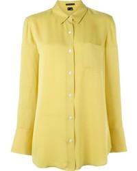 Camisa de vestir amarilla de Theory
