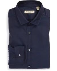 Camisa de vestir azul marino original 354042